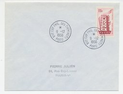 Cover / Postmark France 1956 Trainworkers - Philatelic Exhibition - Treinen