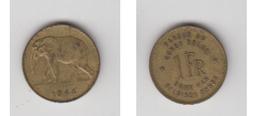 CONGO BELGE - 1 FR 1944 ( FR-NL ) - Congo (Belge) & Ruanda-Urundi