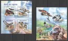 F340 2013 MOZAMBIQUE FAUNA BIRDS OF PREY AVES DE RAPINA KB+BL MNH - Adler & Greifvögel