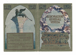CALENDARIETTO 1921  SEMESTRINO  ASSICURAZIONI GENERALI VENEZIA - Calendari