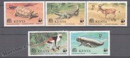 Kenya - Kenia 1977 Yvert 86-90, WWF, Fauna Protection, Endagered Species - MNH - Kenya (1963-...)