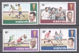 Kenya - Kenia 1978 Yvert 110-13, Argentina Football World Cup - MNH - Kenya (1963-...)