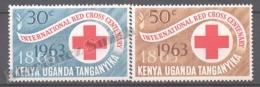 Kenya Uganda - Kenia 1963 Yvert 127-28, International Red Cross Centenary - MNH - Kenya (1963-...)