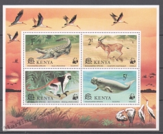 Kenya - Kenia 1977 Yvert BF 9, WWF, Fauna Protection, Endagered Species - Miniature Sheet - MNH - Kenya (1963-...)