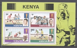 Kenya - Kenia 1978 Yvert BF 11, Argentina Football World Cup - Miniature Sheet - MNH - Kenya (1963-...)