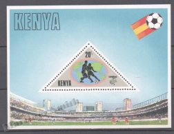 Kenya - Kenia 1982 Yvert BF 17, España ´82 Football World Cup - Miniature Sheet - MNH - Kenya (1963-...)