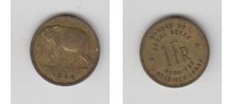 CONGO BELGE - 1 FR 1946 ( FR-NL ) - Congo (Belge) & Ruanda-Urundi