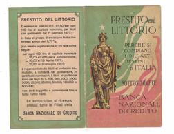 CALENDARIETTO 1927  SEMESTRINO  PRESTITO DEL LITTORIO - Calendari