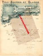 37- BAZINES PRES RICHELIEU- RARE LETTRE MANUSCRITE SIGNEE JULES GIRARD- PROPRIETAIRE VITICULTEUR VINS-1912 - Food