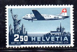 505/1500 - SVIZZERA 1947 , Posta Aerea Unificaton. 41 Con Gomma Integra  ***  MNH - Nuevos