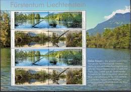 LIECHTENSTEIN ,2018,MNH,NATURE RESERVES, HÄLOS, MOUNTAINS, RIVERS, TREES, SHEETLET - Geology