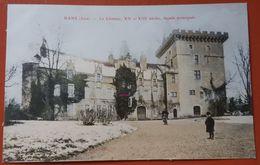 Rans (Jura) : Le Château XII Et XIIIème Siècle : Façade Principale - Vue En Hiver - Colorisée - Other Municipalities