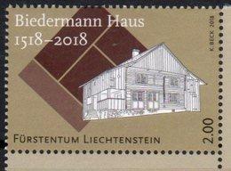 LIECHTENSTEIN ,2018,MNH, 500 YEARS OF BIEDERMANN HOUSE, EMBOSSED STAMP,1 V - Architecture