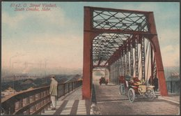 O Street Viaduct, South Omaha, Nebraska, C.1910 - Postcard - Omaha