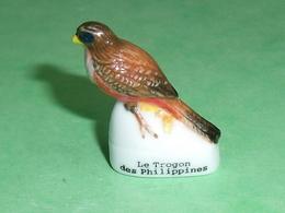 Fèves / Animaux : Oiseau , Le Trogon Des Philippines     T102 - Animals