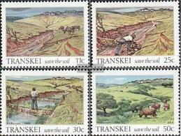 Südafrika - Transkei 163-166 (completa Edizione) Usato 1985 Bodenerhaltung - Transkei