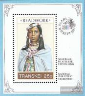 South Africa - Transkei Block4 (complete Issue) Unmounted Mint / Never Hinged 1987 Perlschmuckarbeiten - Transkei