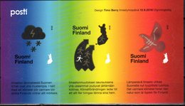FINLAND, 2018, MNH,CLIMATE CHANGE, STYLIZED BIRDS, EMBOSSED SHEETLET - Environment & Climate Protection