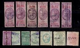 Grande-Bretagne Petite Collection De Timbres Fiscaux Anciens Oblitérés. A Saisir! - Revenue Stamps