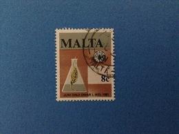 1981 MALTA FRANCOBOLLO USATO STAMP USED - FAO 8 C - Malta