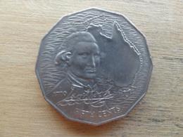 Australie  50  Cents  Cook  1970  Km 69 - Monnaie Décimale (1966-...)