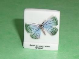 Fèves / Animaux : Papillon , Azuré Des Nerpruns  ,  WWF    T102 - Animals