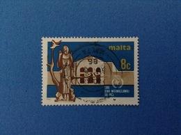1986 MALTA FRANCOBOLLO USATO STAMP USED - 8 C - Malta