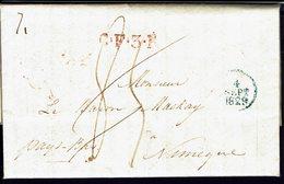 FR - 1829 - Lettre De Paris Pour Nimègue En Port Dû, Taxe Manuscrite 85 Décimes - B/TB - - 1801-1848: Precursors XIX