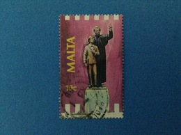1988 MALTA FRANCOBOLLO USATO STAMP USED - SAN GIOVANNI BOSCO 10 C - Malta