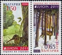 Bulgaria 2011  - Europa Cept - Set From Booklet  MNH** - Europa-CEPT