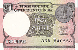 INDE 1 Rupee 2016  P 117b  Lettre L Government Of India UNC - India