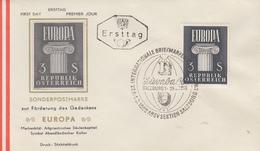 Enveloppe  FDC  1er  Jour   AUTRICHE   EUROPA  1960 - Europa-CEPT
