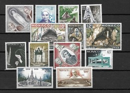 1958 Monaco Complete Set Lourdes Mint Hinged/Ongebruikt Met Plakker/Neuf Avec Charniere - Monaco