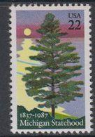 USA 1987 Michigan Statehood 1v ** Mnh (40746F) - Nuovi