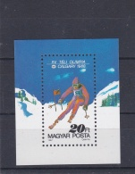 Hungary 1988 Calgary Olympic Winter Games Souvenir Sheet  MNH/** (H41) - Winter 1988: Calgary