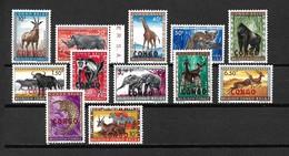 1960 Congo Complete Set Wild Animals,dieren,tiere MNH/Postfris/Neuf Sans Charniere - Postzegels