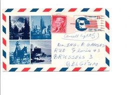 USA LETTRE DE HIGH POINT POUR LA BELGIQUE 1967 - Marcofilia