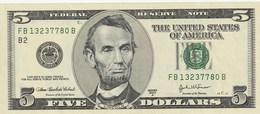 5 DOLLARI LINCOLN - United States Notes (1862-1923)