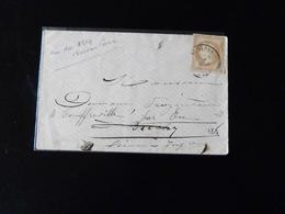 LETTRE POUR TOUFFREVILLE SUR EU  1871  -  BUREAU DE PASSE 3219  -  ROUEN  - - 1849-1876: Période Classique