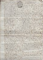 VP12.982 - Cachet Généralité - LA ROCHELLE -  Acte De 17?? Concernant Mr Jean DHIERSAT à SAINT JEAN D'ANGELY - Cachets Généralité