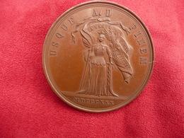 Grosse Médaille Ancienne  Bronze POLOGNE 1830 Par W A MALINOWSKY   Port Offert - Entriegelungschips Und Medaillen