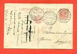 INTERI POSTALI-CARTOLINE POSTALI- C36/12 - DA BORGOTARO PER BORGOFORTE - 1900-44 Vittorio Emanuele III