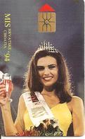 CARTE-a-PUCE-CROATIE-1995-GEM-100U-MISS CROATIE 94-UTILISE-TBE - Croatie