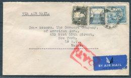 1945 Palestine Airmail O.A.T. Cover Haifa - New York, USA - Palestine