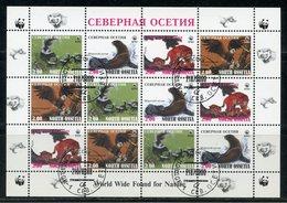 NORTH OSSETIA (FANTASTIC) 1998 WWF. WILD CATS. LYNX. FUR SEAL. WHITE-HANGED ORLAN - W.W.F.