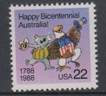 USA 1988 Happy Bicentennial Australia 1v ** Mnh (40747B) - Ongebruikt