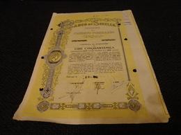 OBBLIGAZIONE BANCO DI SICILIA LIRE 50.000-1949 - Banca & Assicurazione