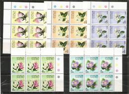 Fleurs Endémiques De L' île NAURU (Océan Pacifique)  5 Blocs De 6 Neufs **   Côte  30,00 Euro - Nauru
