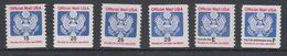 USA Official Mail 6v ** Mnh (40747D) - Dienstzegels