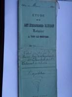 Réf: 8-4-7.          Acte Notarial: Notaire Haverland D'Olloy - Baron De Thyssebaert - J P Charlier De Chastres. - Belgium